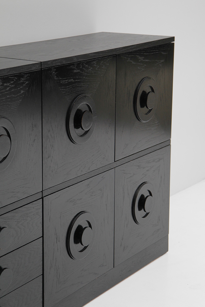 BLACK EBONIZED SIDEBOARDS WITH GRAPHIC DOORS  image 10