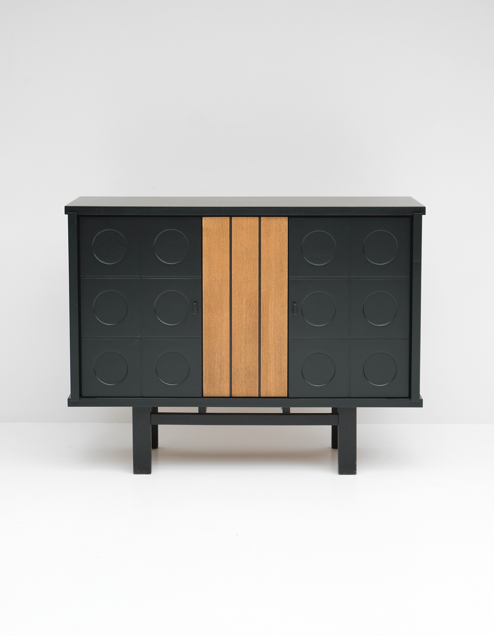 1970S BLACK EBONIZED CABINET BELGIAN MADEimage 1