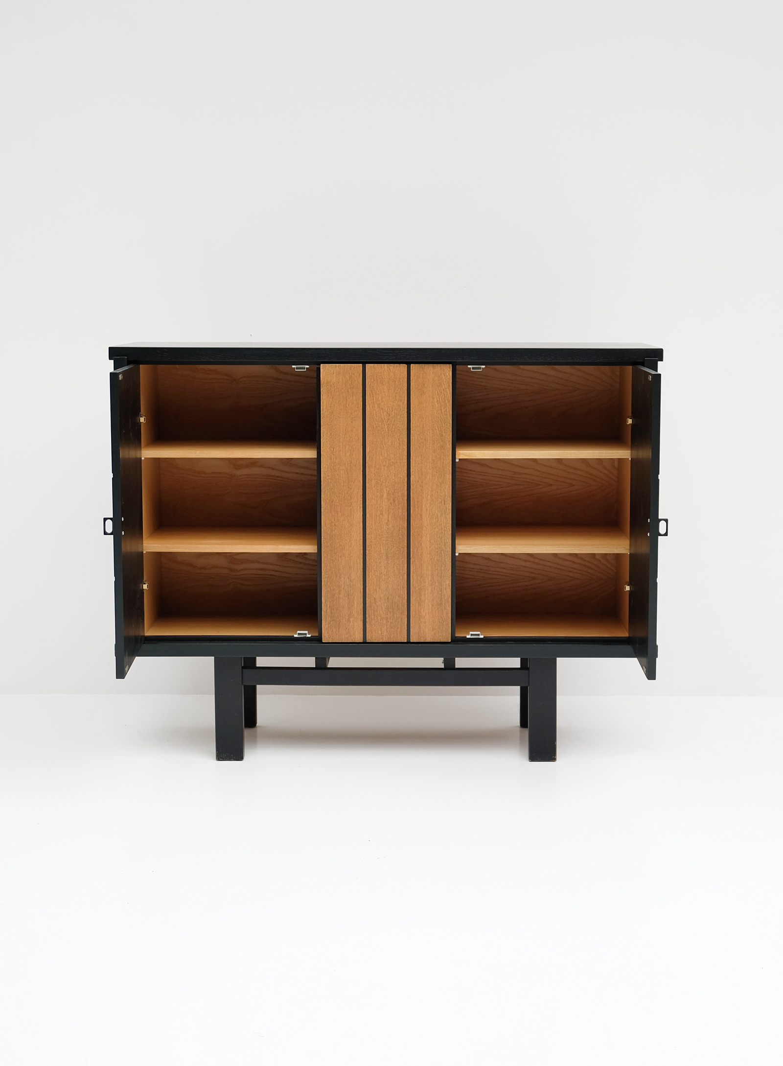 1970S BLACK EBONIZED CABINET BELGIAN MADEimage 2
