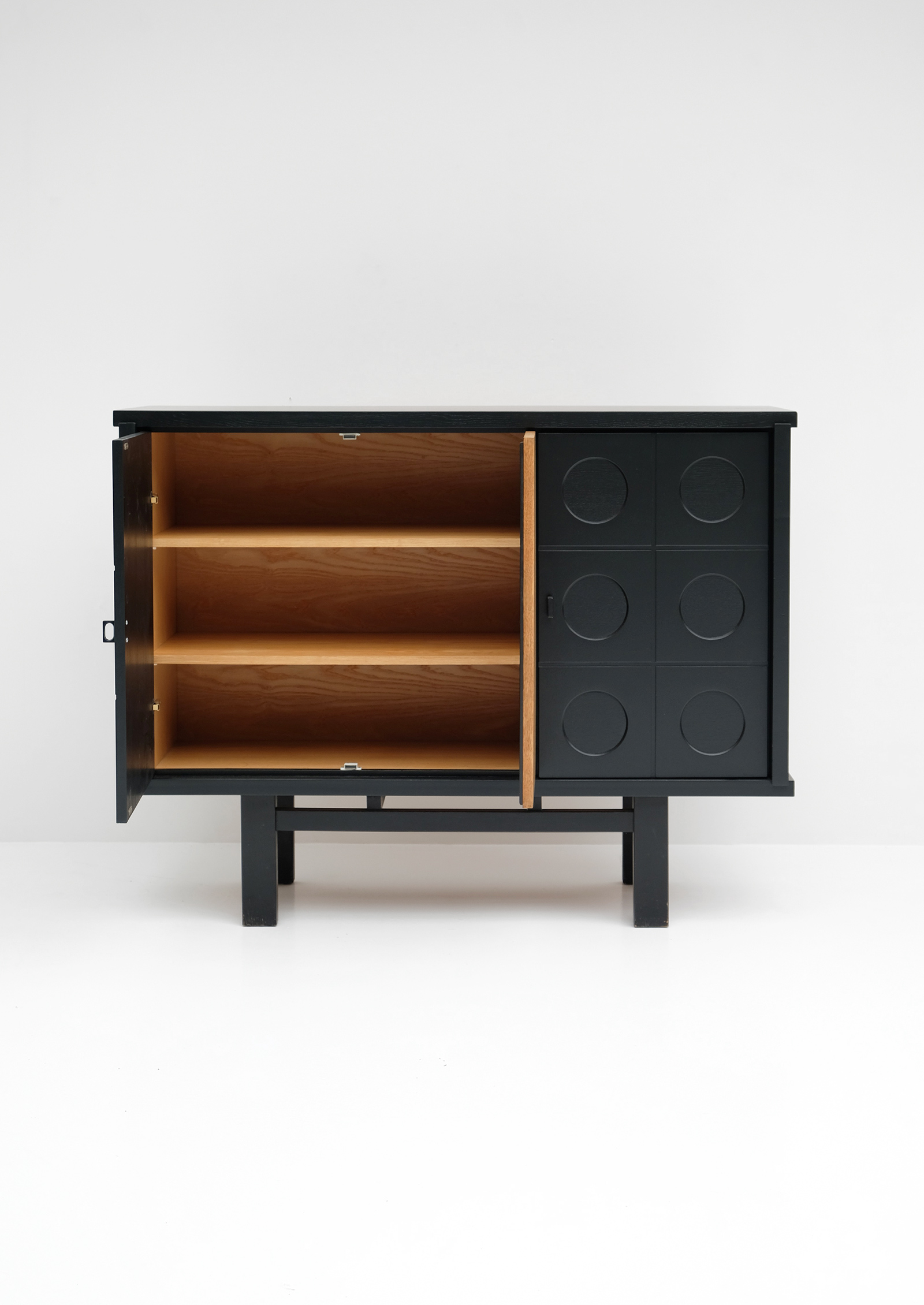 1970S BLACK EBONIZED CABINET BELGIAN MADEimage 3