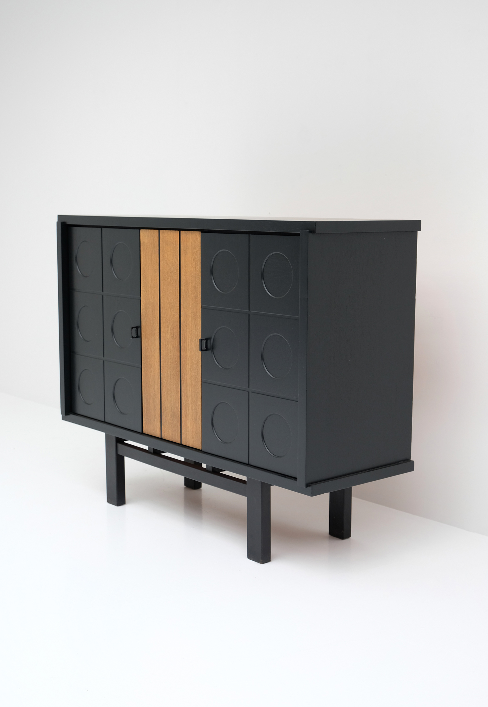 1970S BLACK EBONIZED CABINET BELGIAN MADEimage 4