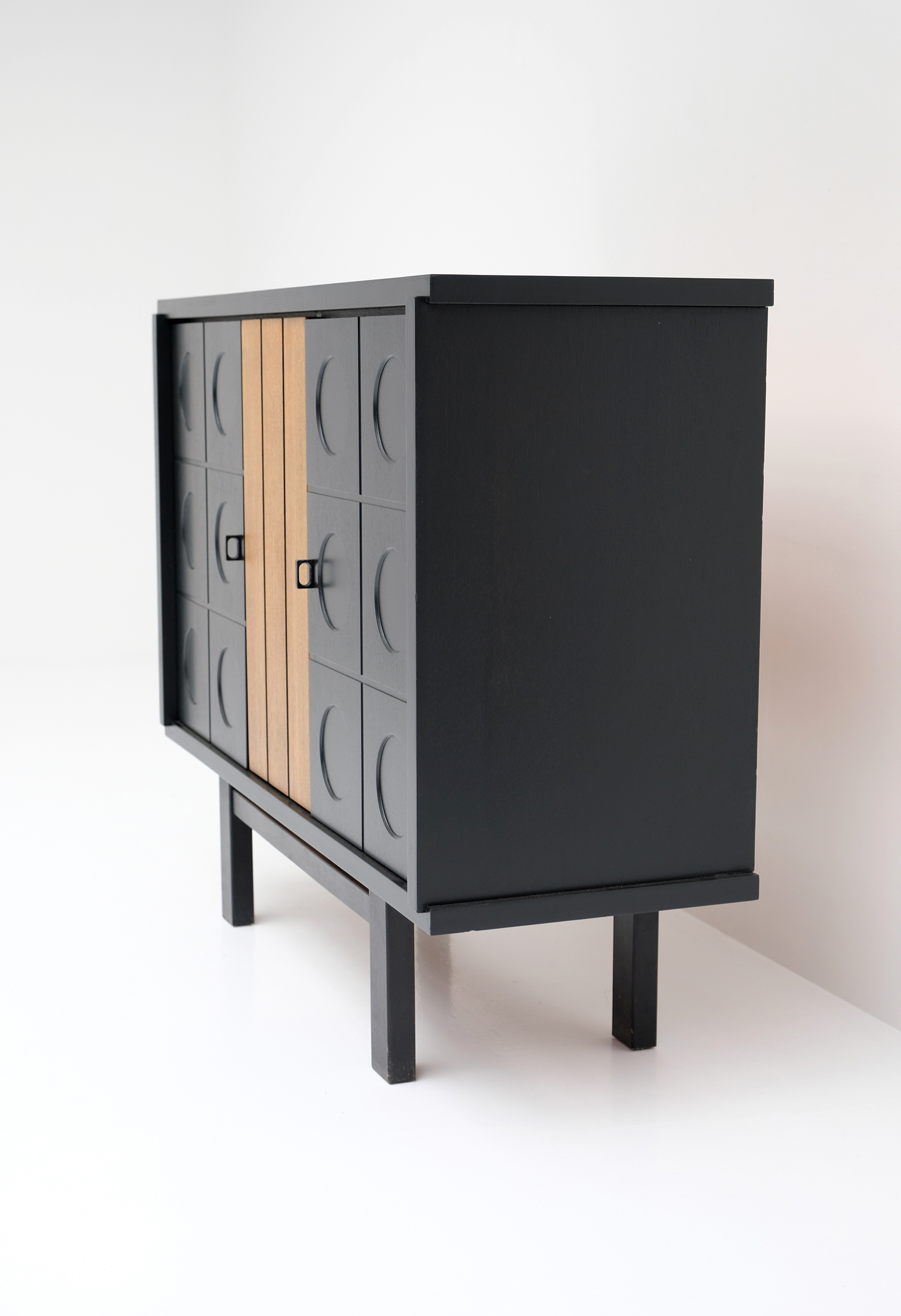 1970S BLACK EBONIZED CABINET BELGIAN MADEimage 5