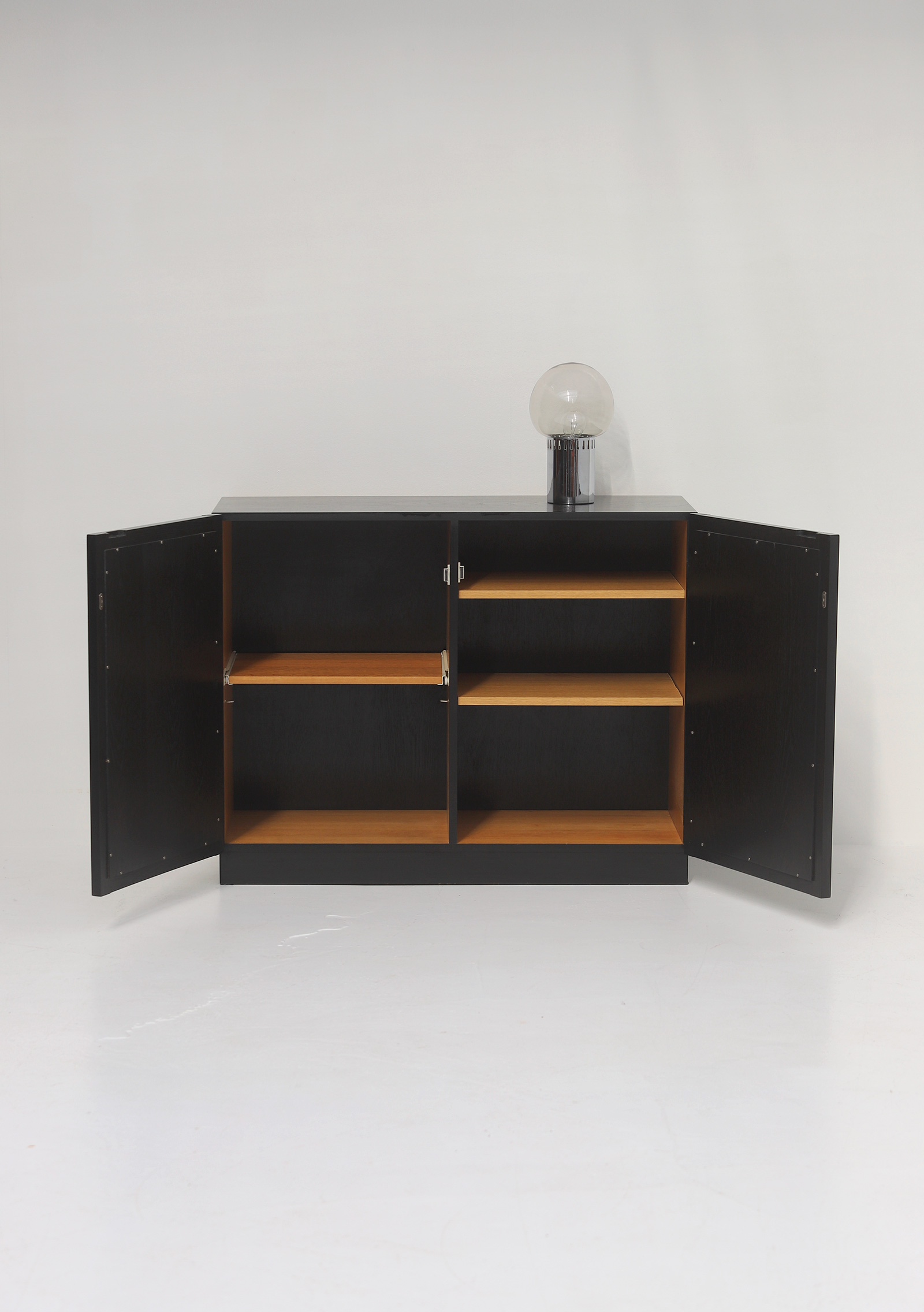 Black Stained Credenza with Geometric Doorsimage 11