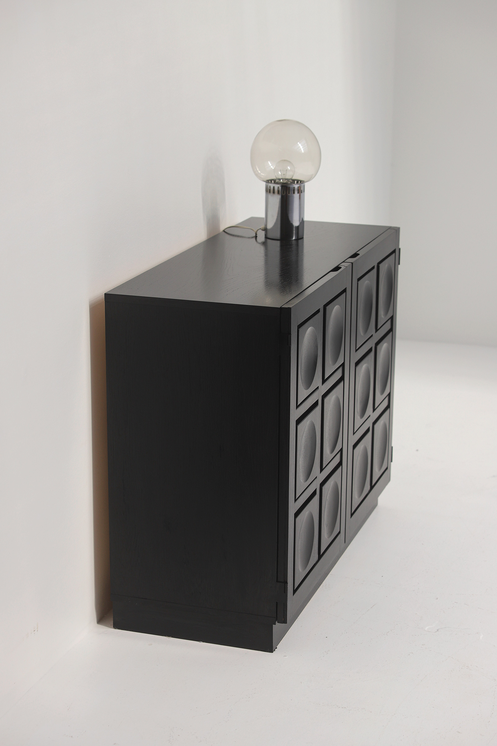 Black Stained Credenza with Geometric Doorsimage 13