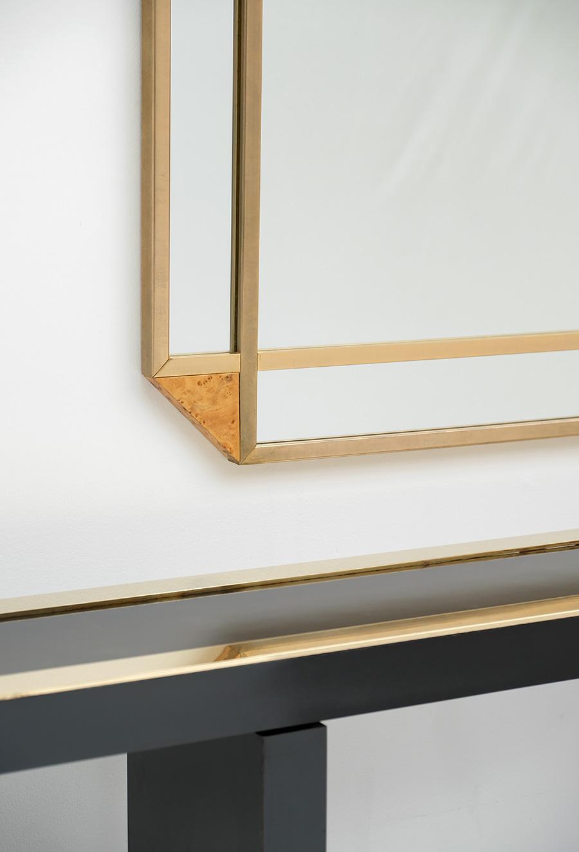 Decorative Burl Wood Mirror 1970Simage 6
