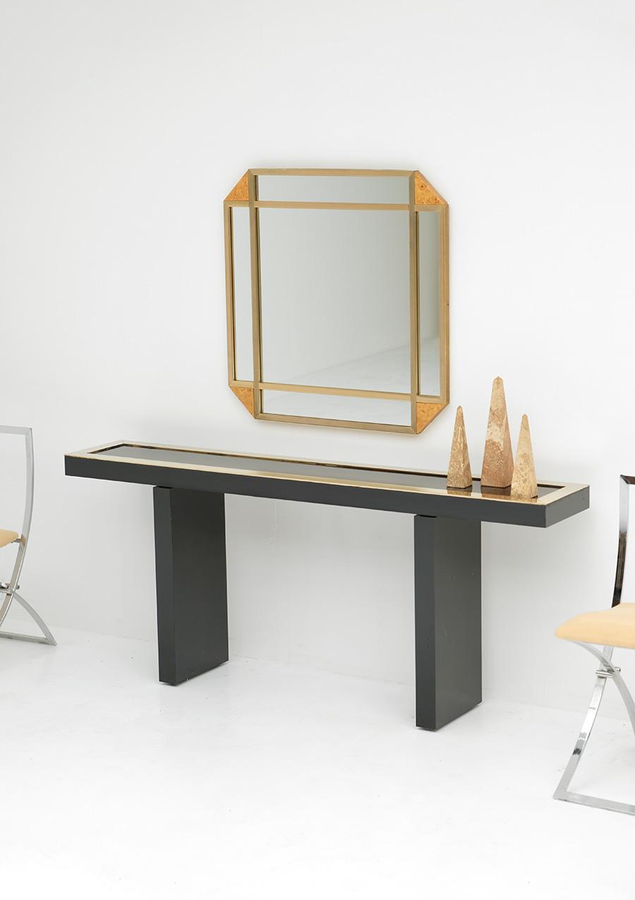 Decorative Burl Wood Mirror 1970Simage 2