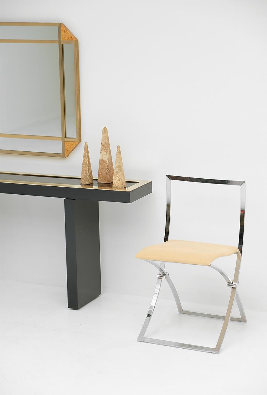 Decorative Burl Wood Mirror 1970S