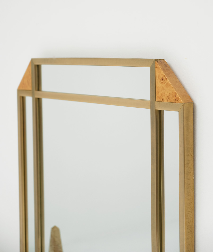 Decorative Burl Wood Mirror 1970Simage 4