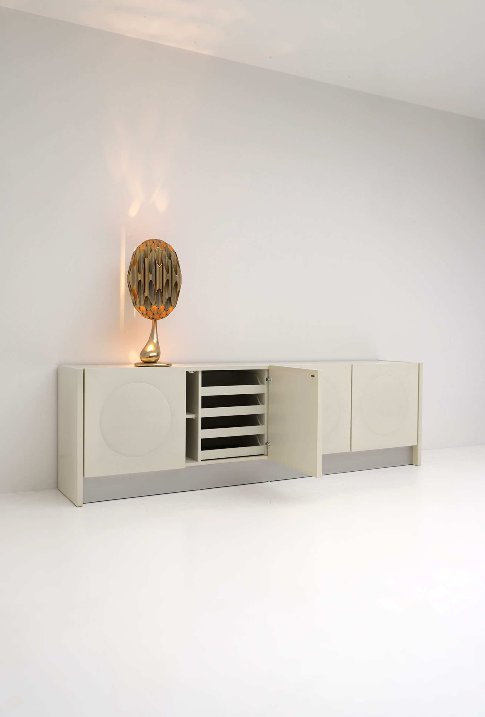 Ivory White 1970s Sideboard