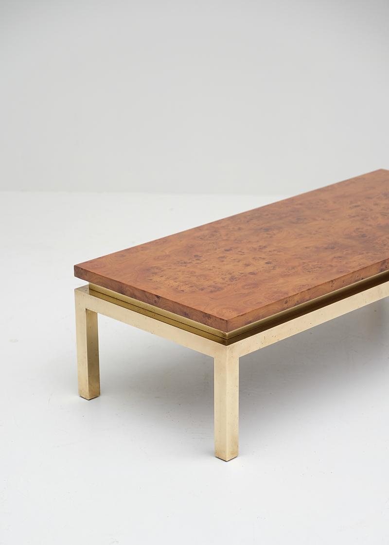 Burl Wood Coffee Table 1970s