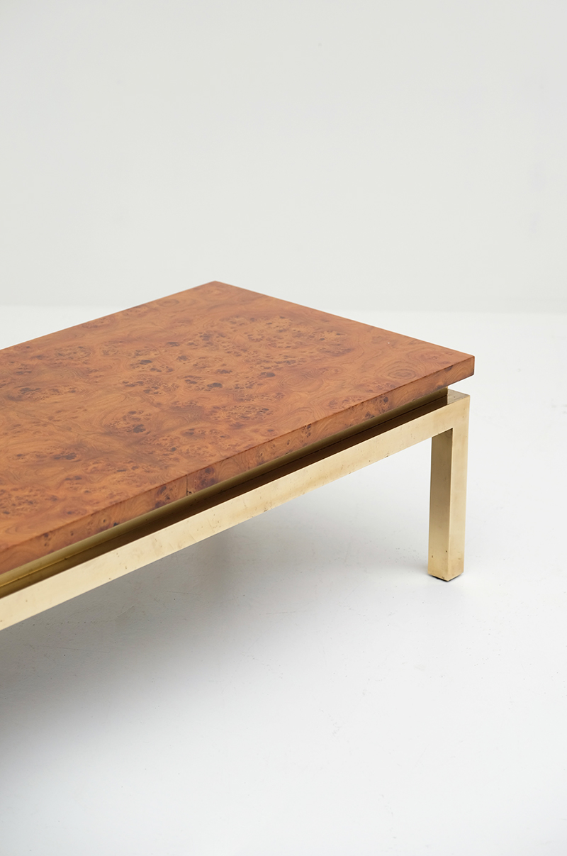 Burl Wood Coffee Table 1970s