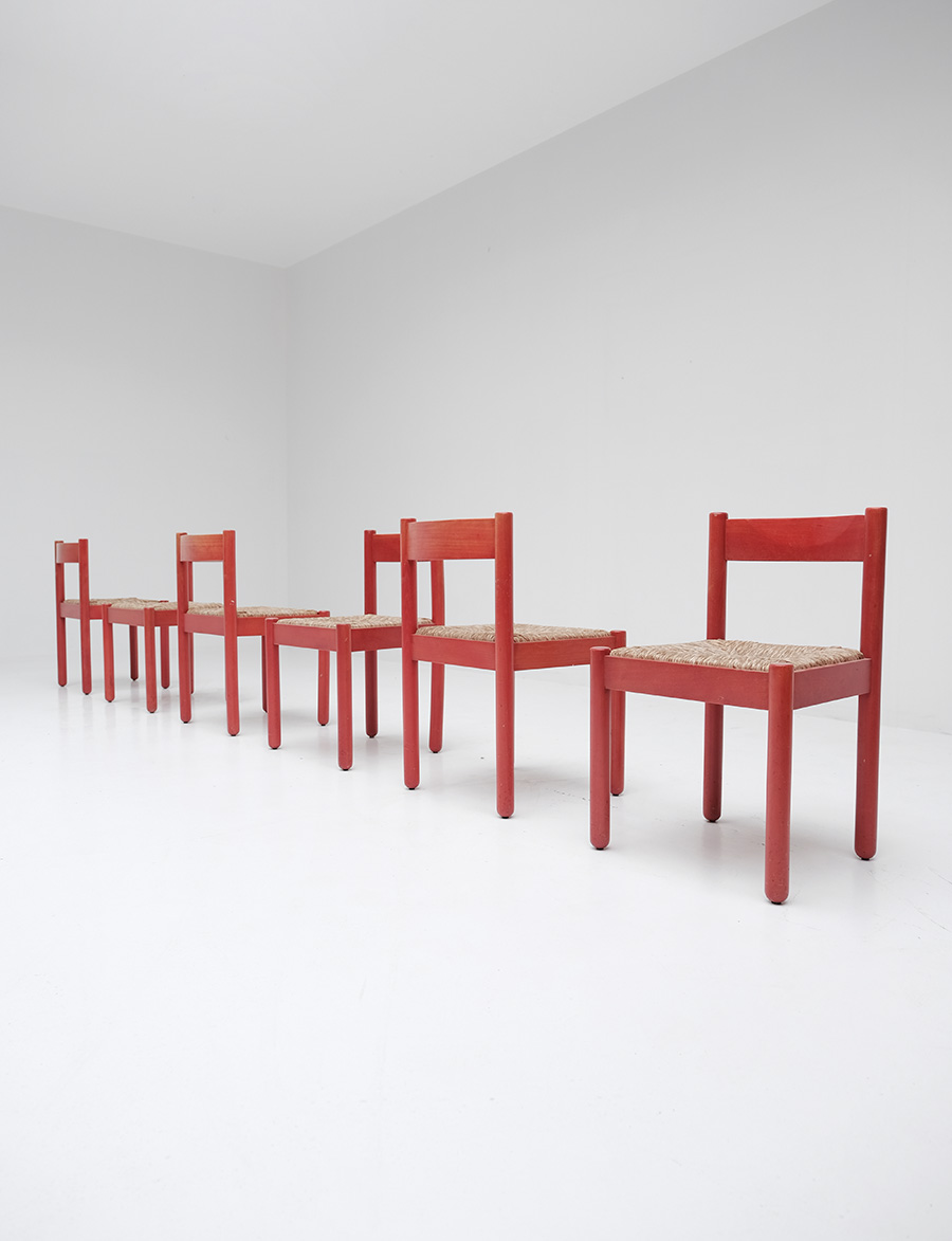 Vico Magistretti Red Carimate chairs image 1