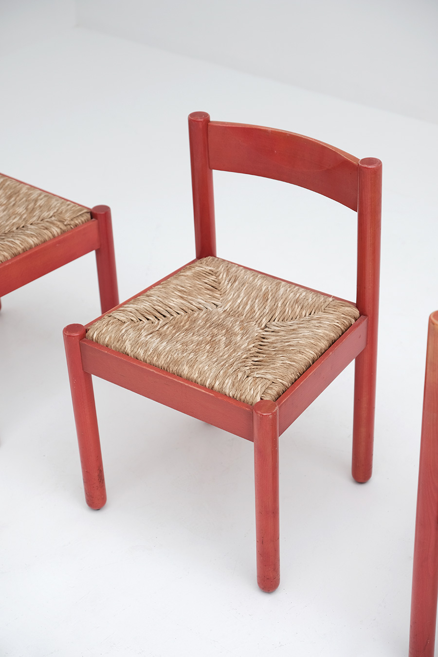 Vico Magistretti Red Carimate chairs image 3