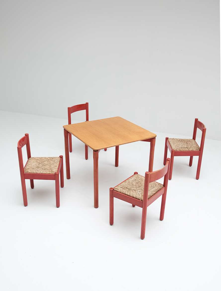 Vico Magistretti Red Carimate chairs image 6