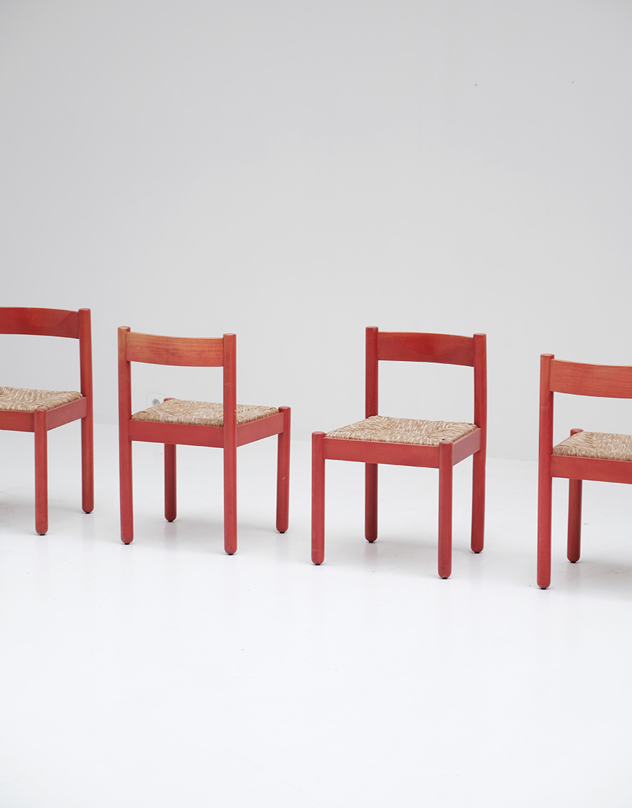 Vico Magistretti Red Carimate chairs