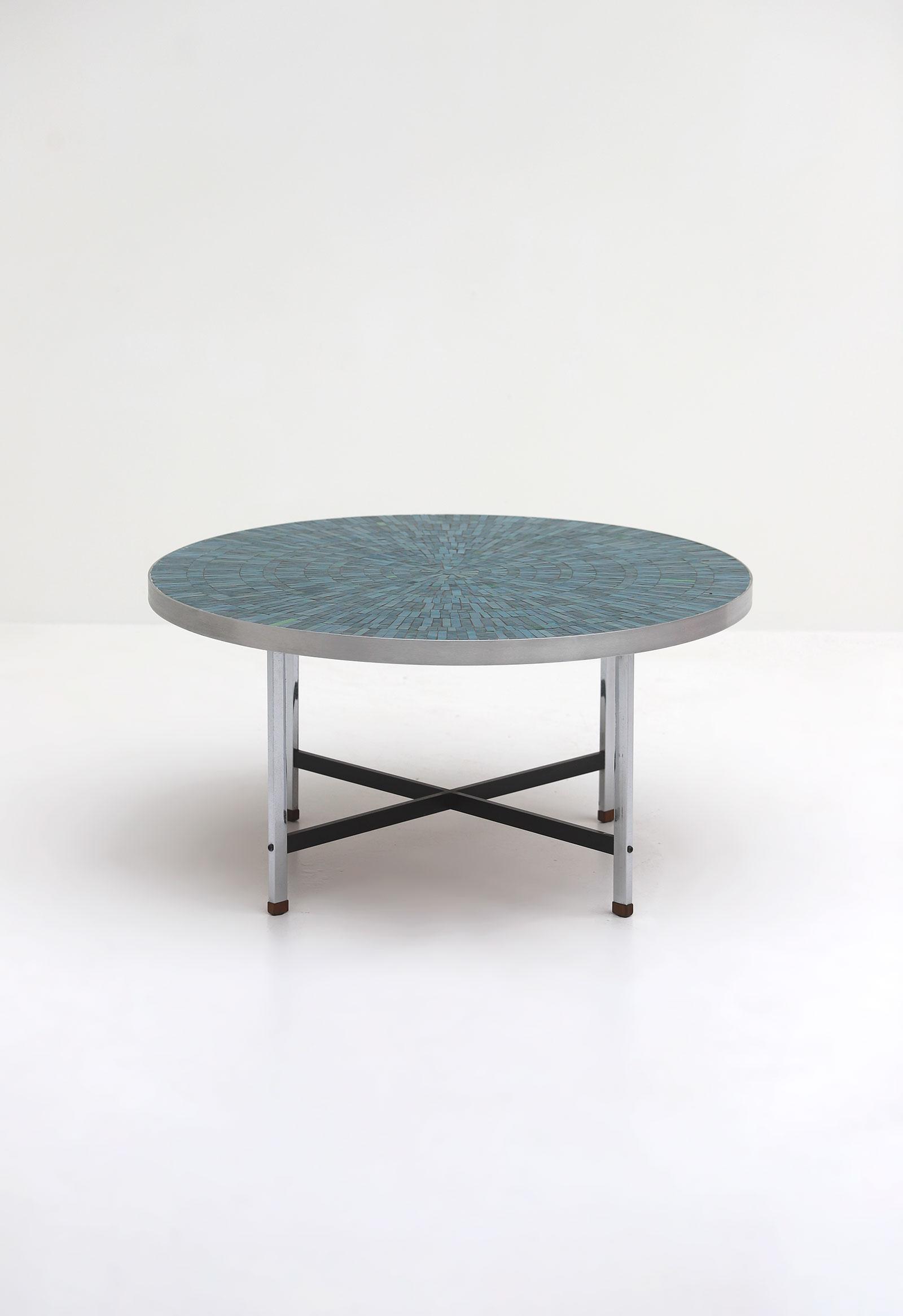 1960s Azure Round Ceramic Coffee Tableimage 2