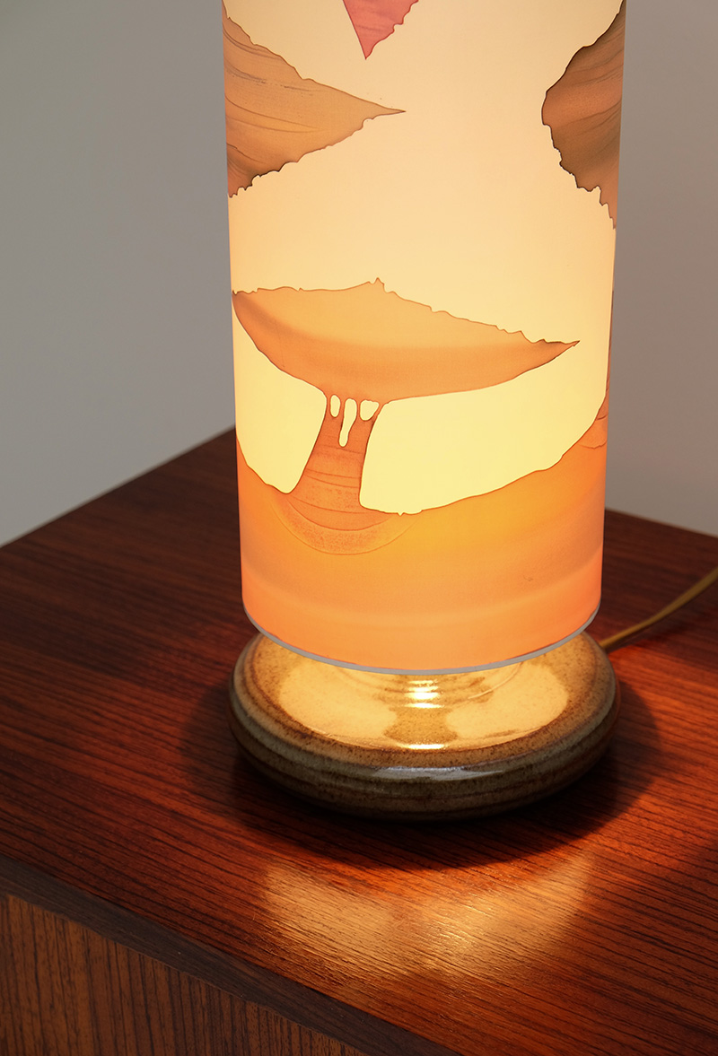 1970S SOFT COLORED TABLE LAMP image 2
