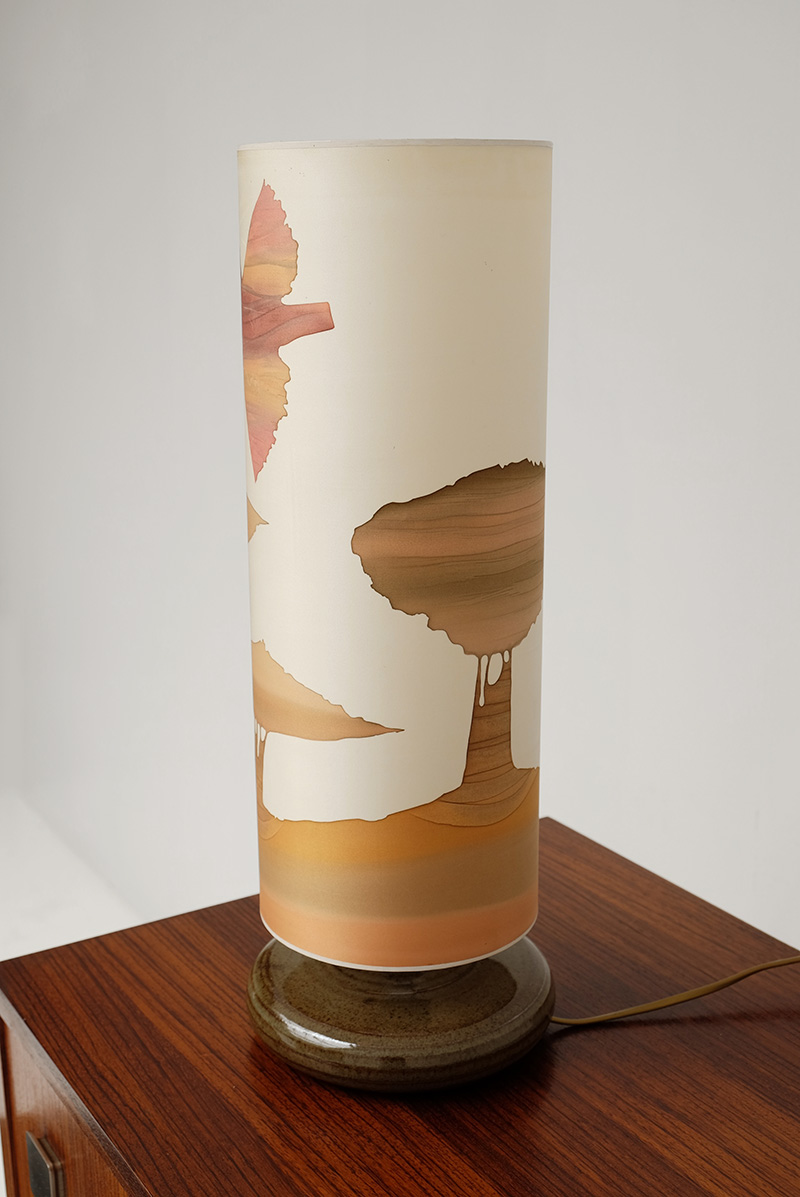 1970S SOFT COLORED TABLE LAMP image 6
