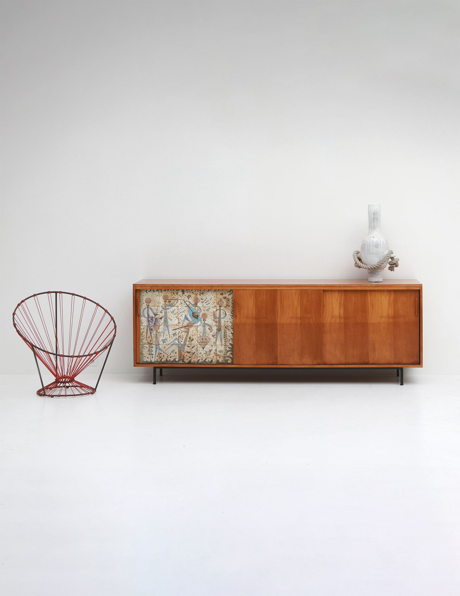 Sideboard with Ceramic Tiles Charles-Emile Pinson 1958image 1