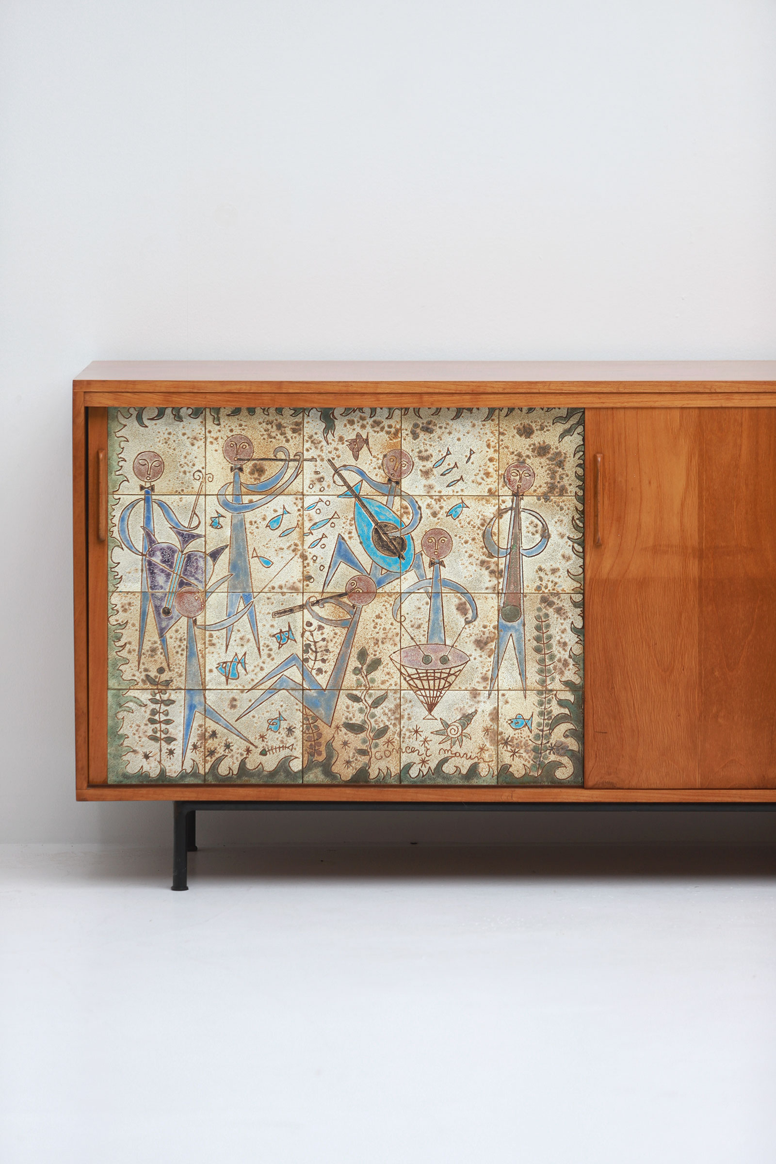Sideboard with Ceramic Tiles Charles-Emile Pinson 1958image 3