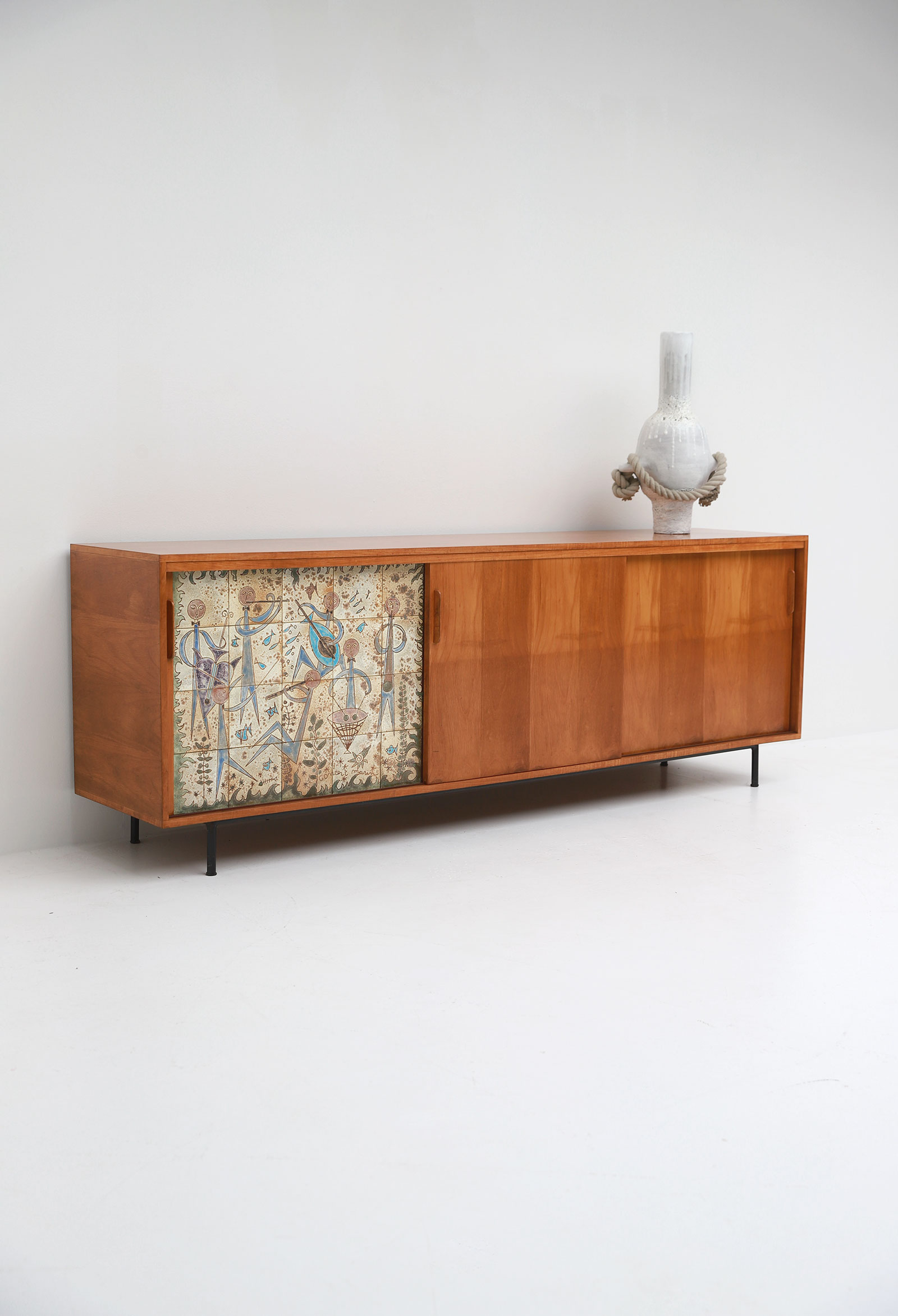 Sideboard with Ceramic Tiles Charles-Emile Pinson 1958image 9