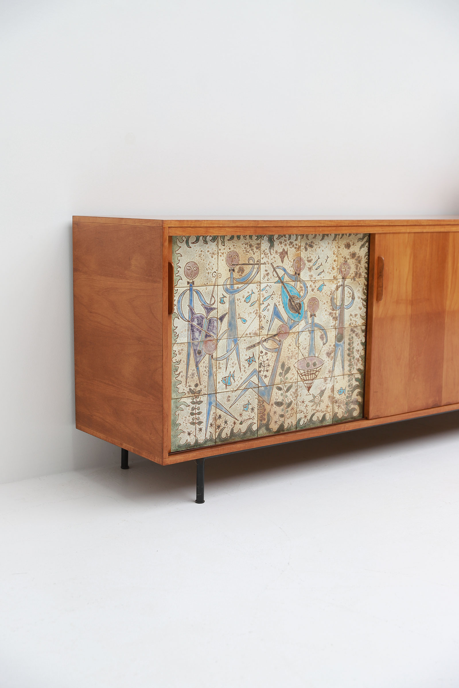 Sideboard with Ceramic Tiles Charles-Emile Pinson 1958image 10