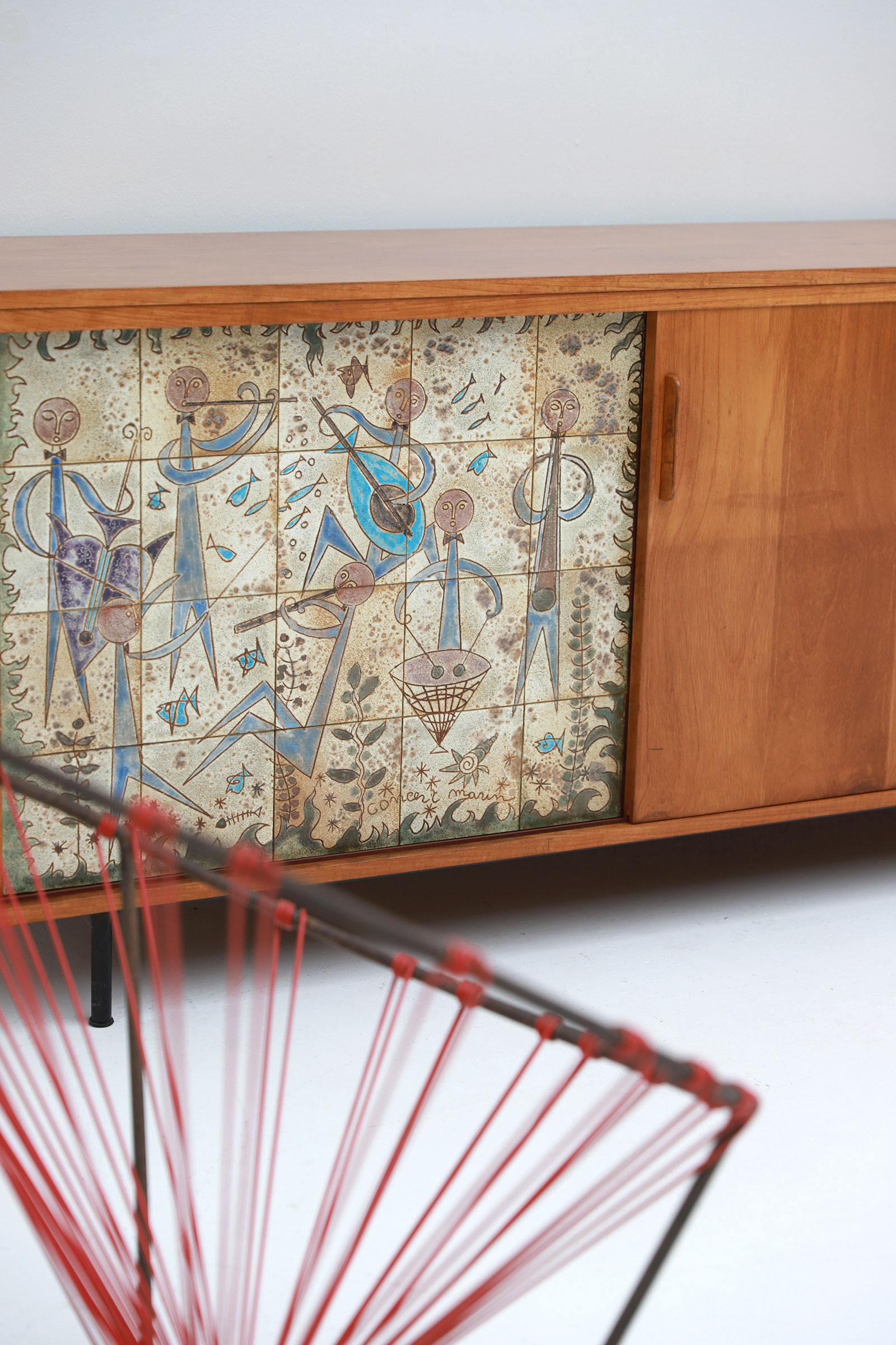 Sideboard with Ceramic Tiles Charles-Emile Pinson 1958image 6