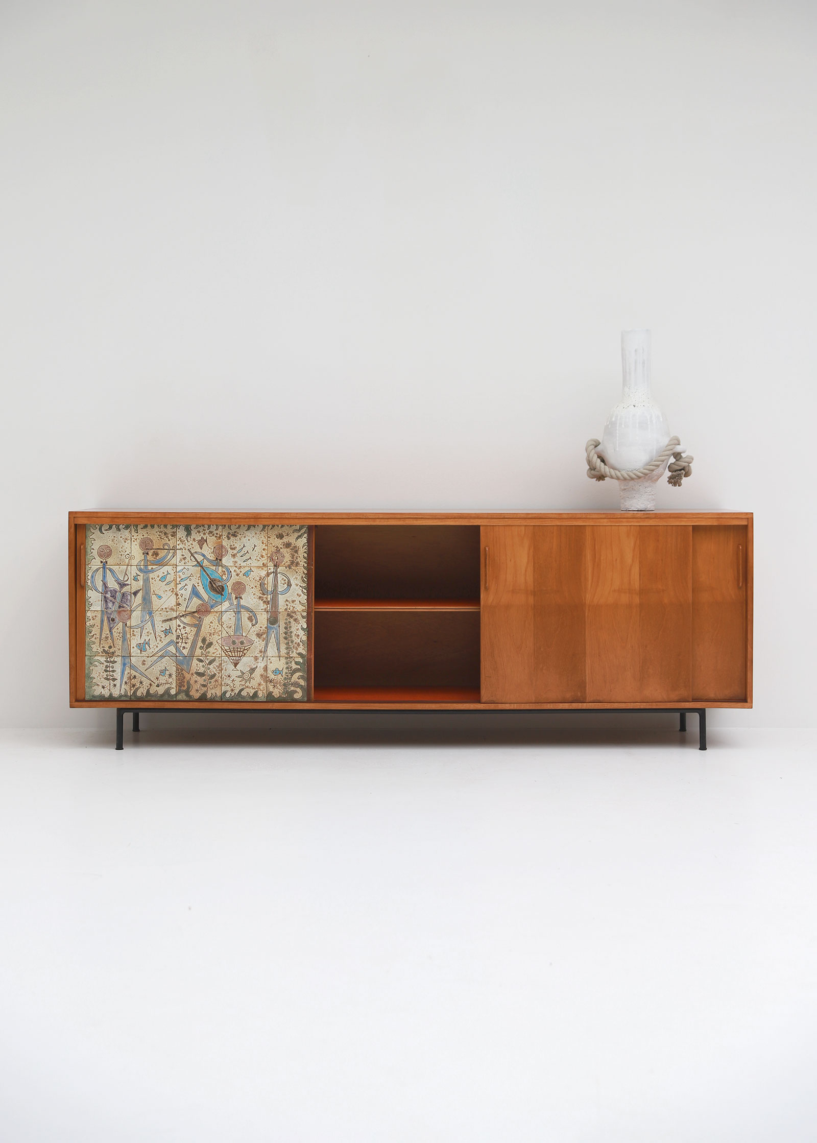 Sideboard with Ceramic Tiles Charles-Emile Pinson 1958image 11