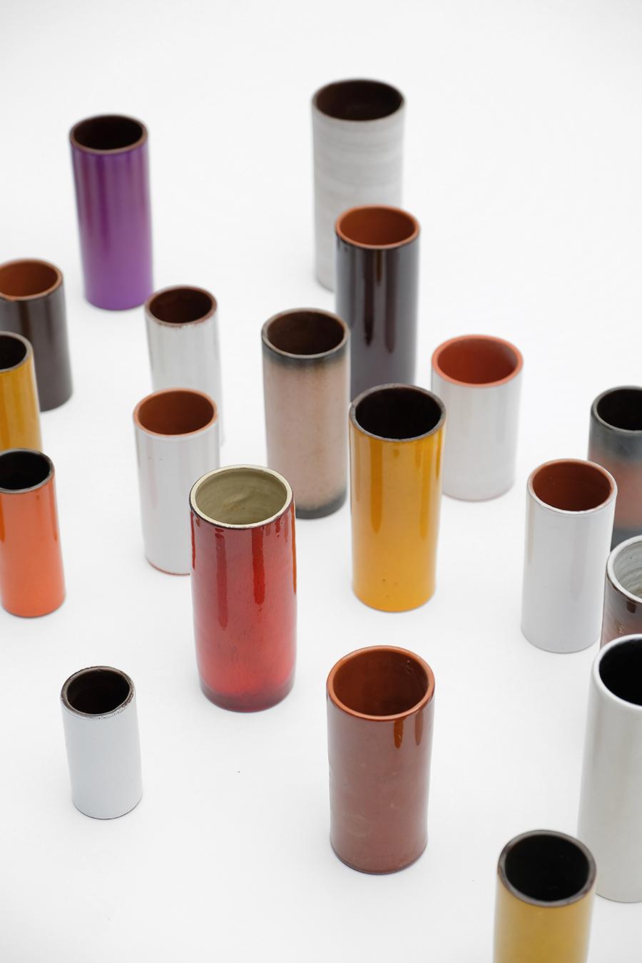 Ceramic cylindrical vases 1960simage 3