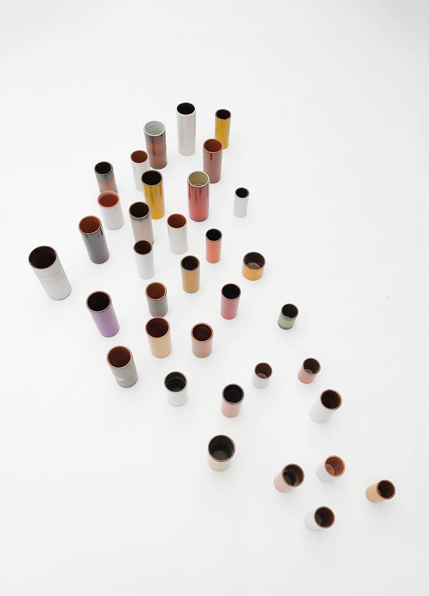 Ceramic cylindrical vases 1960simage 1