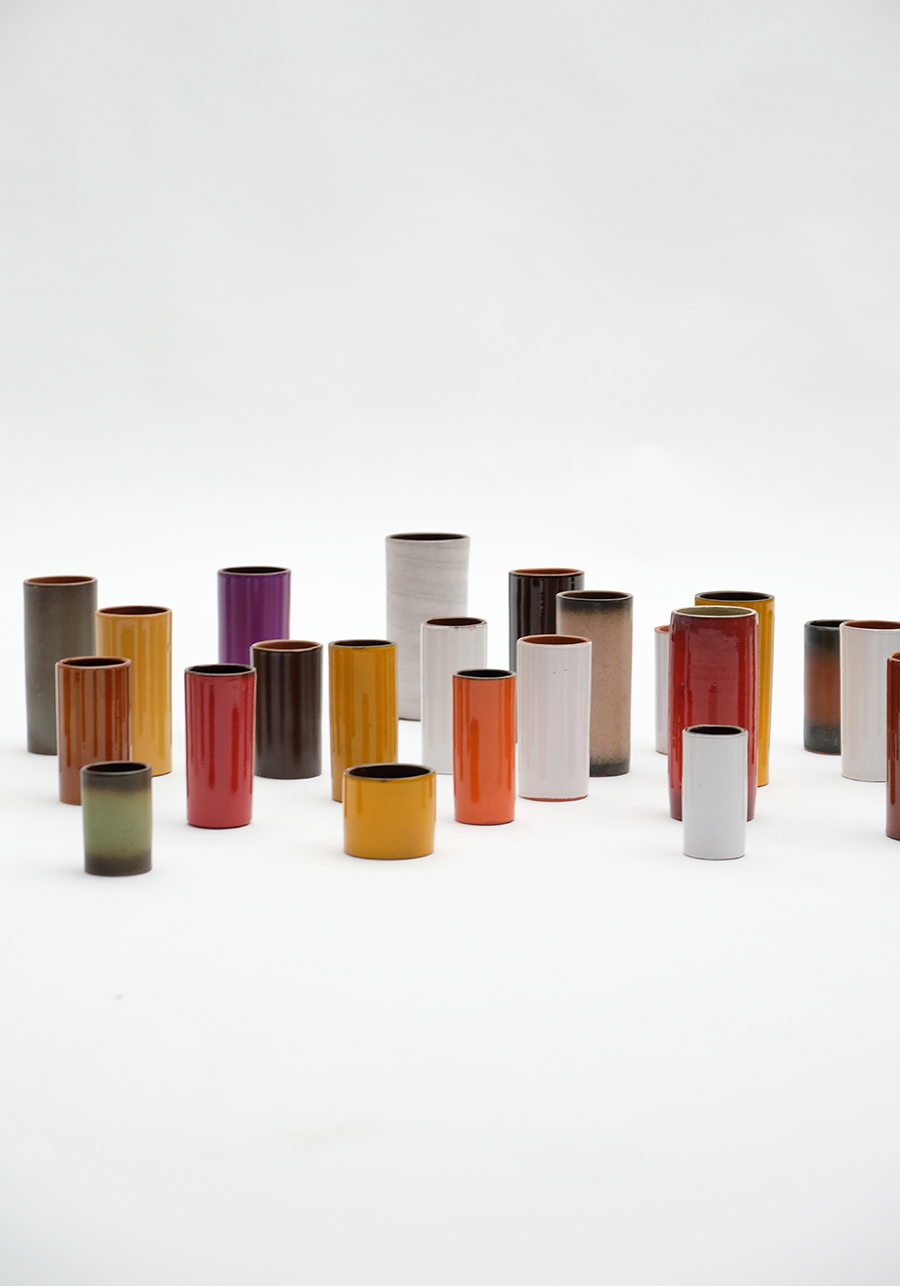 Ceramic cylindrical vases 1960simage 4