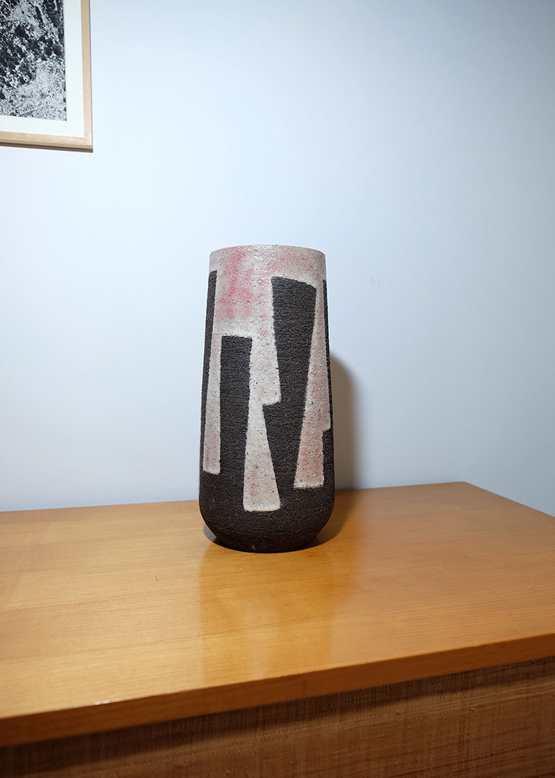 Modernist Stoneware Vase from the Zaalberg Atelier image 4
