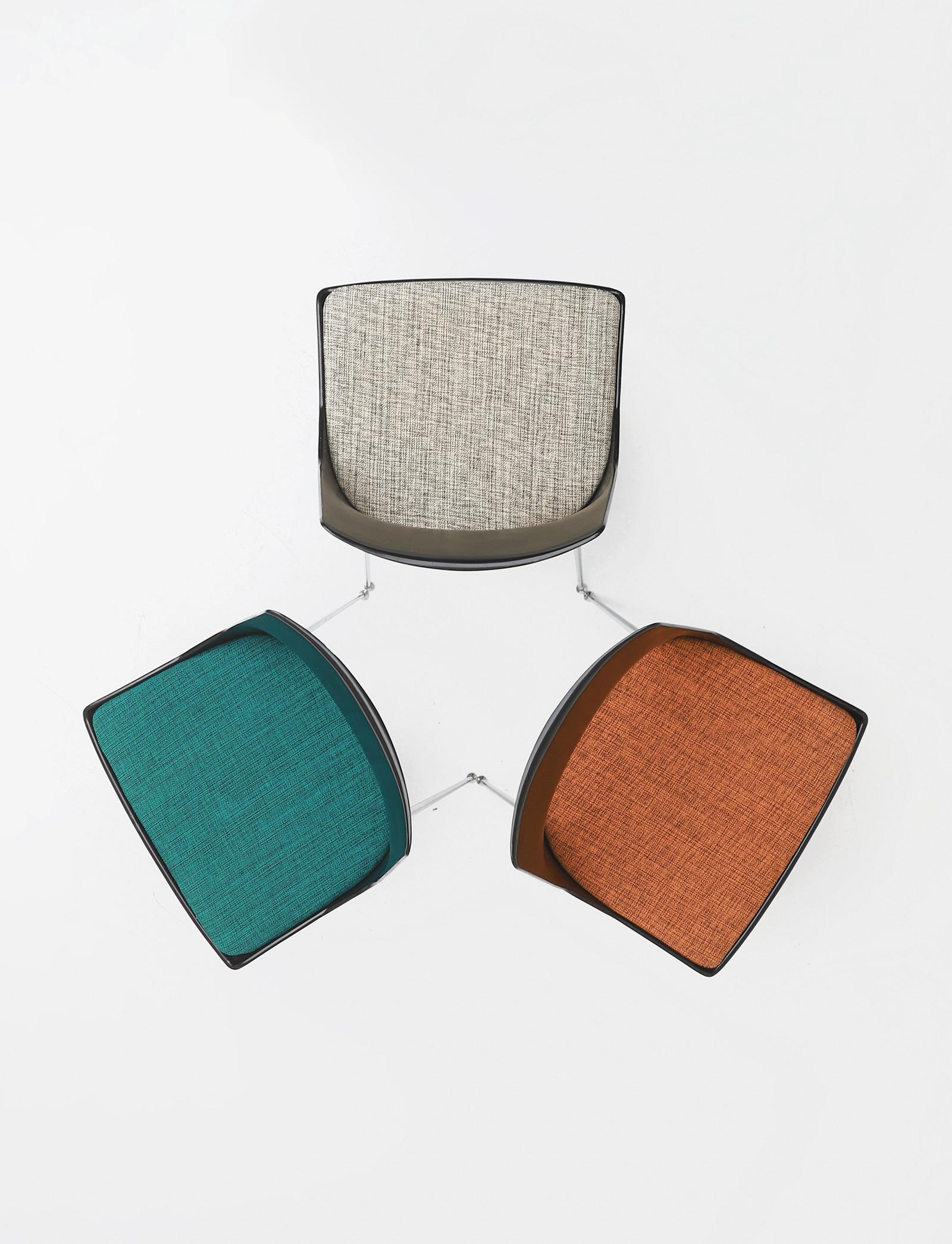 Set of three Modern Kay Korbing chairs for Fibrex Danmarkimage 5