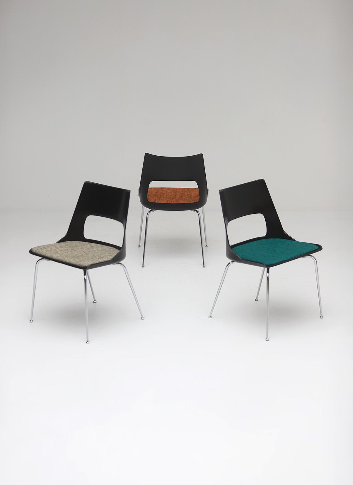 Set of three Modern Kay Korbing chairs for Fibrex Danmarkimage 1