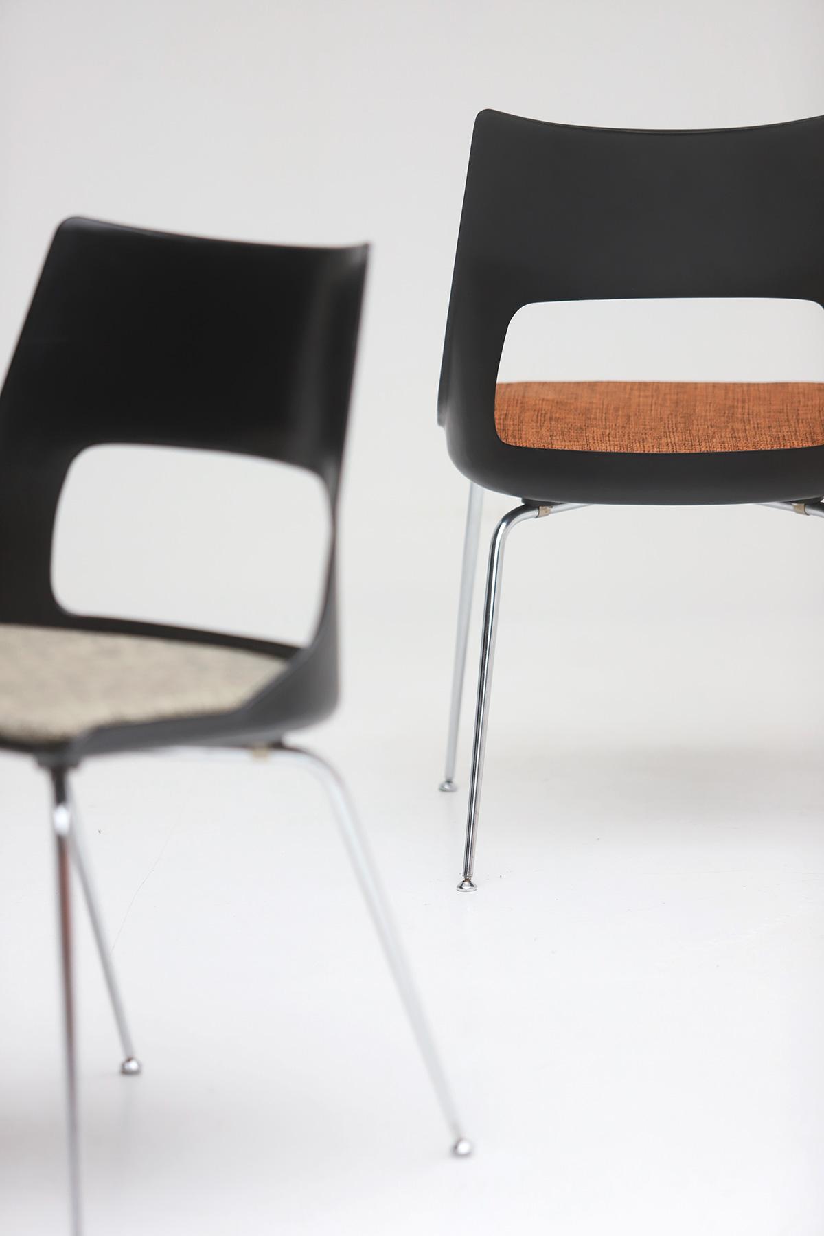 Set of three Modern Kay Korbing chairs for Fibrex Danmarkimage 3