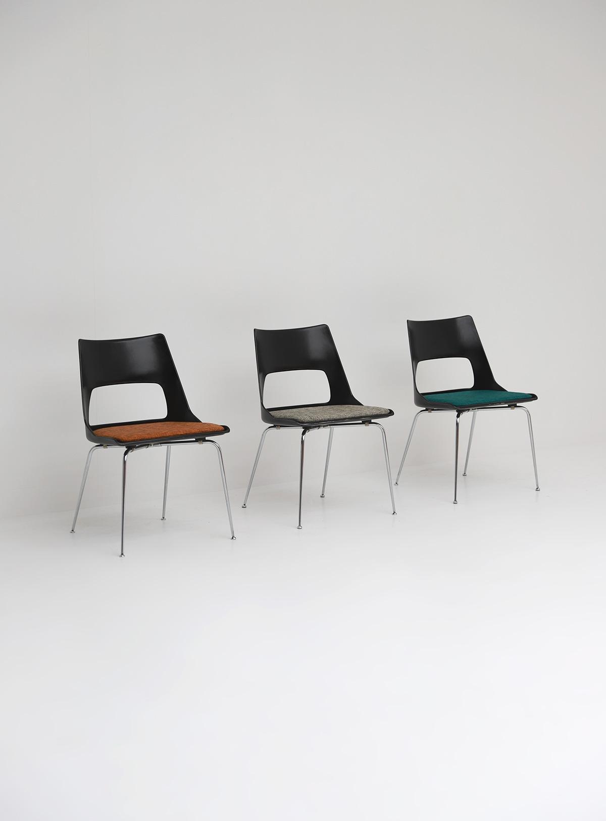 Set of three Modern Kay Korbing chairs for Fibrex Danmarkimage 6