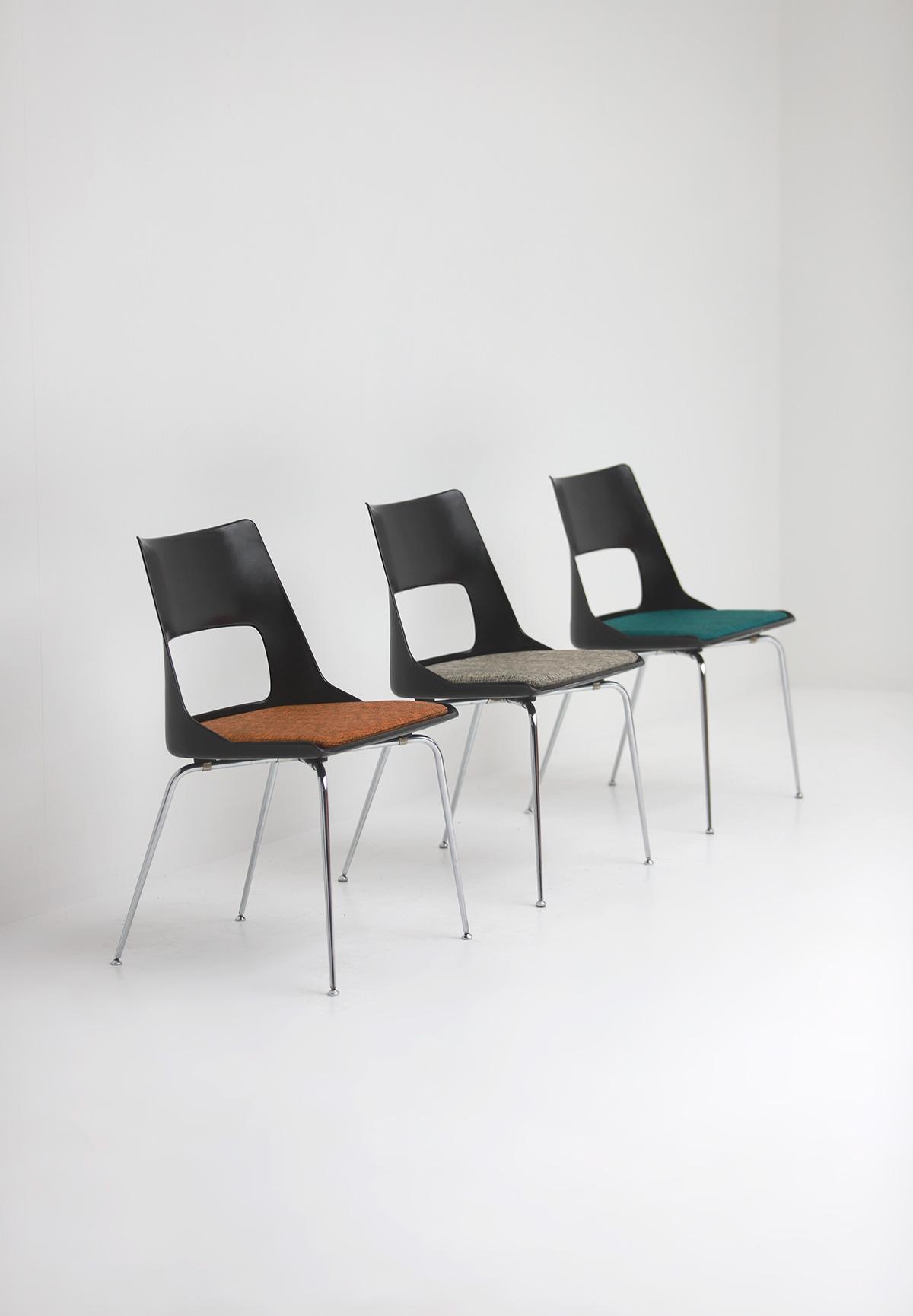 Set of three Modern Kay Korbing chairs for Fibrex Danmarkimage 7