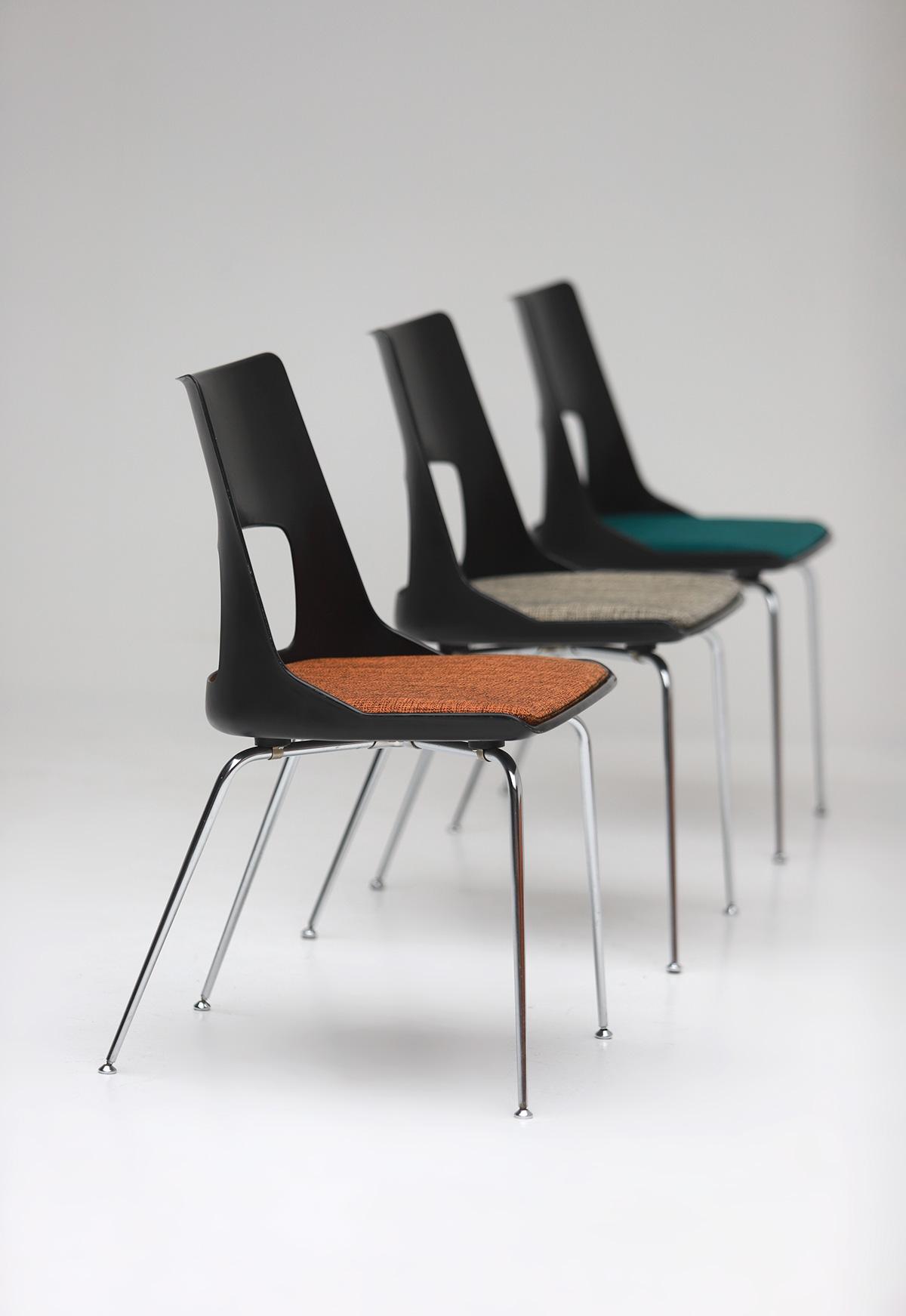 Set of three Modern Kay Korbing chairs for Fibrex Danmarkimage 8