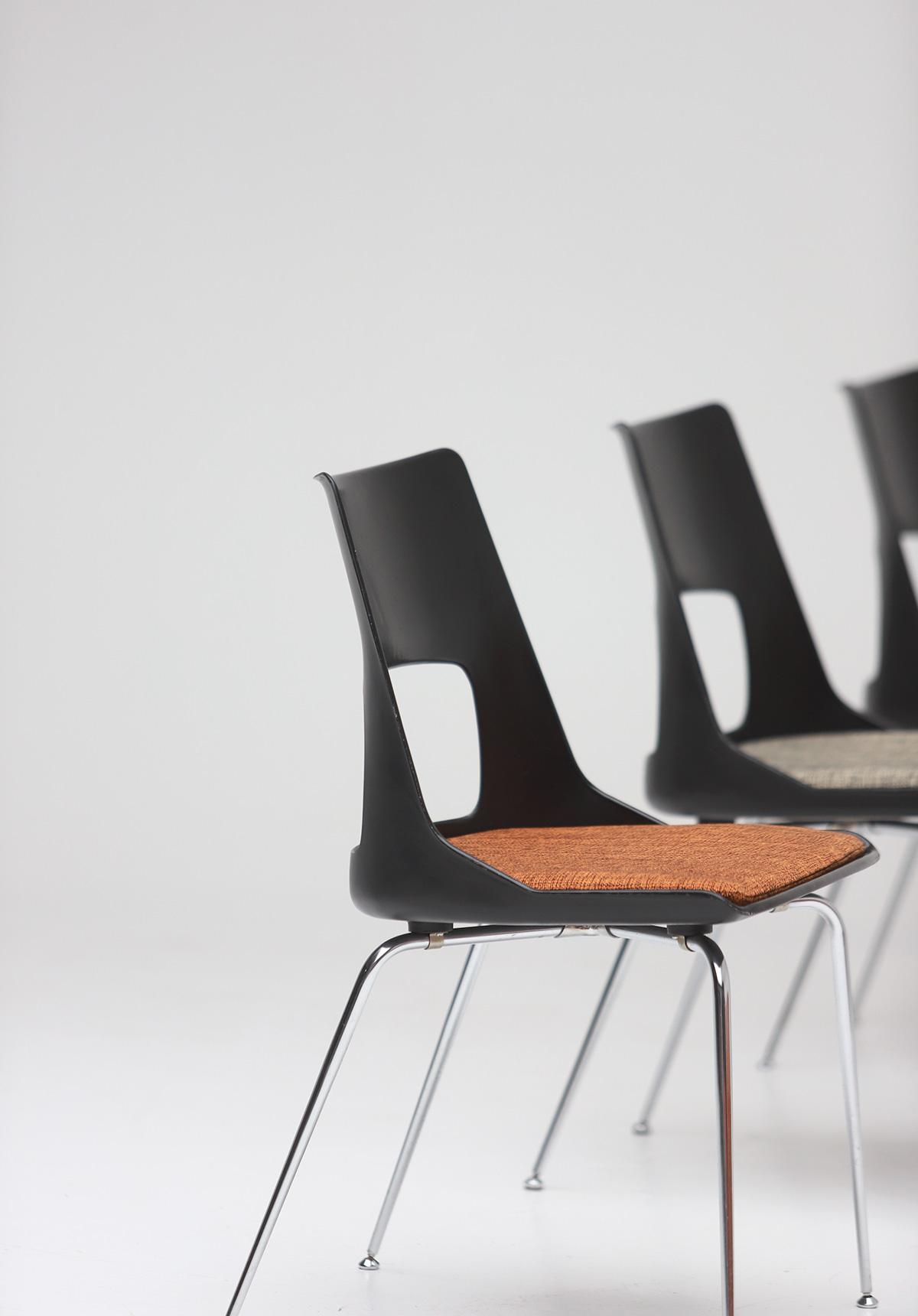 Set of three Modern Kay Korbing chairs for Fibrex Danmarkimage 9