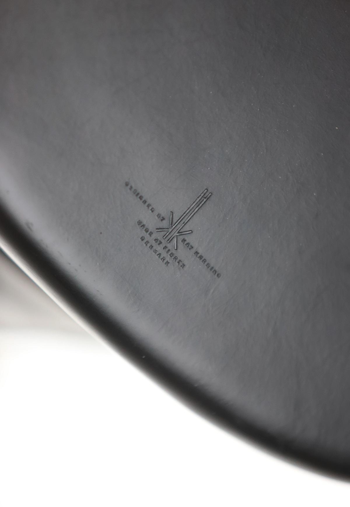 Set of three Modern Kay Korbing chairs for Fibrex Danmarkimage 13