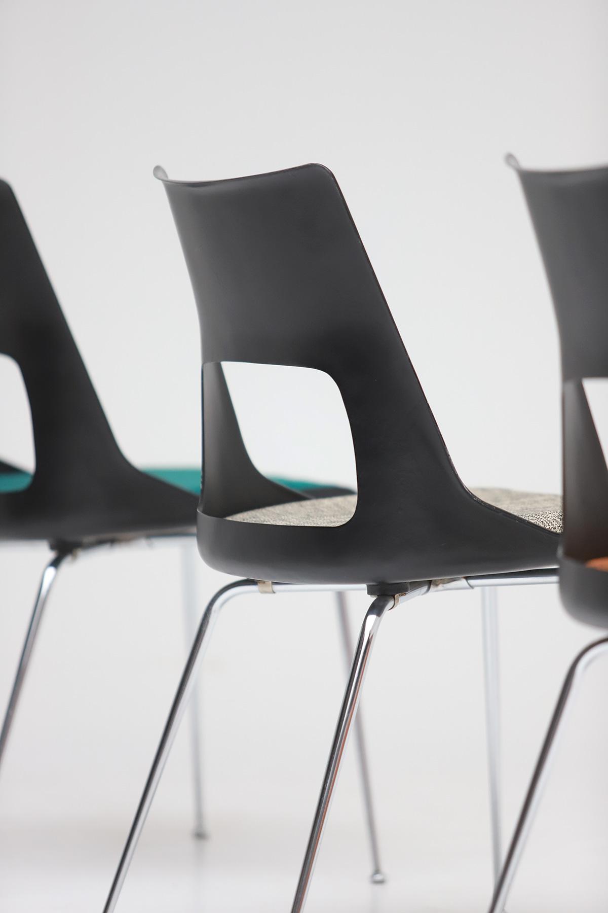 Set of three Modern Kay Korbing chairs for Fibrex Danmarkimage 12