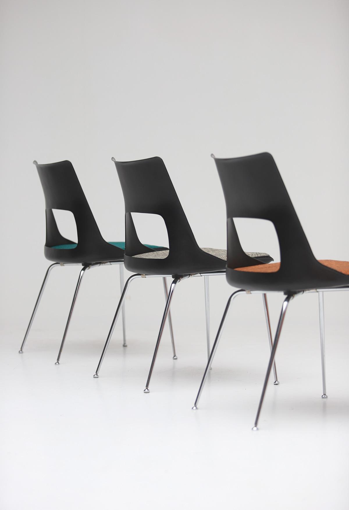 Set of three Modern Kay Korbing chairs for Fibrex Danmarkimage 11