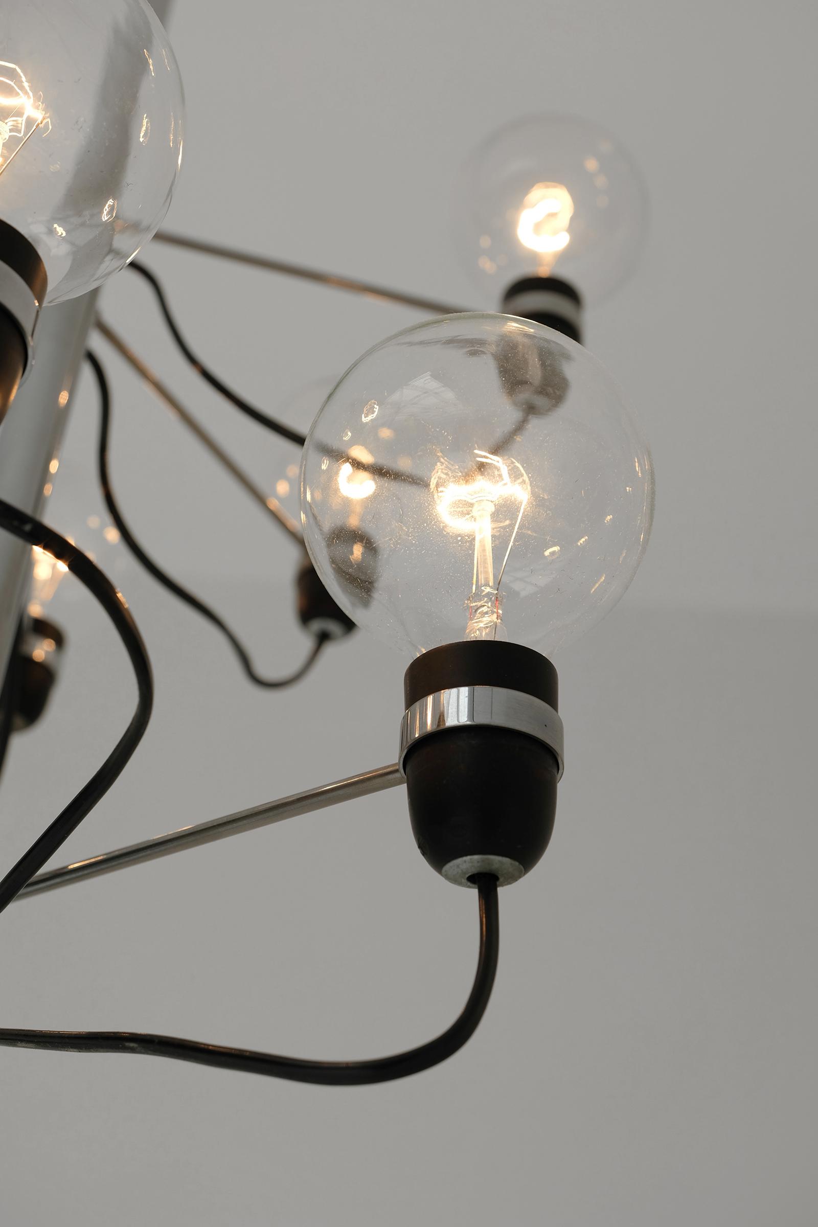 1960s Spiralling Pendant Lamp