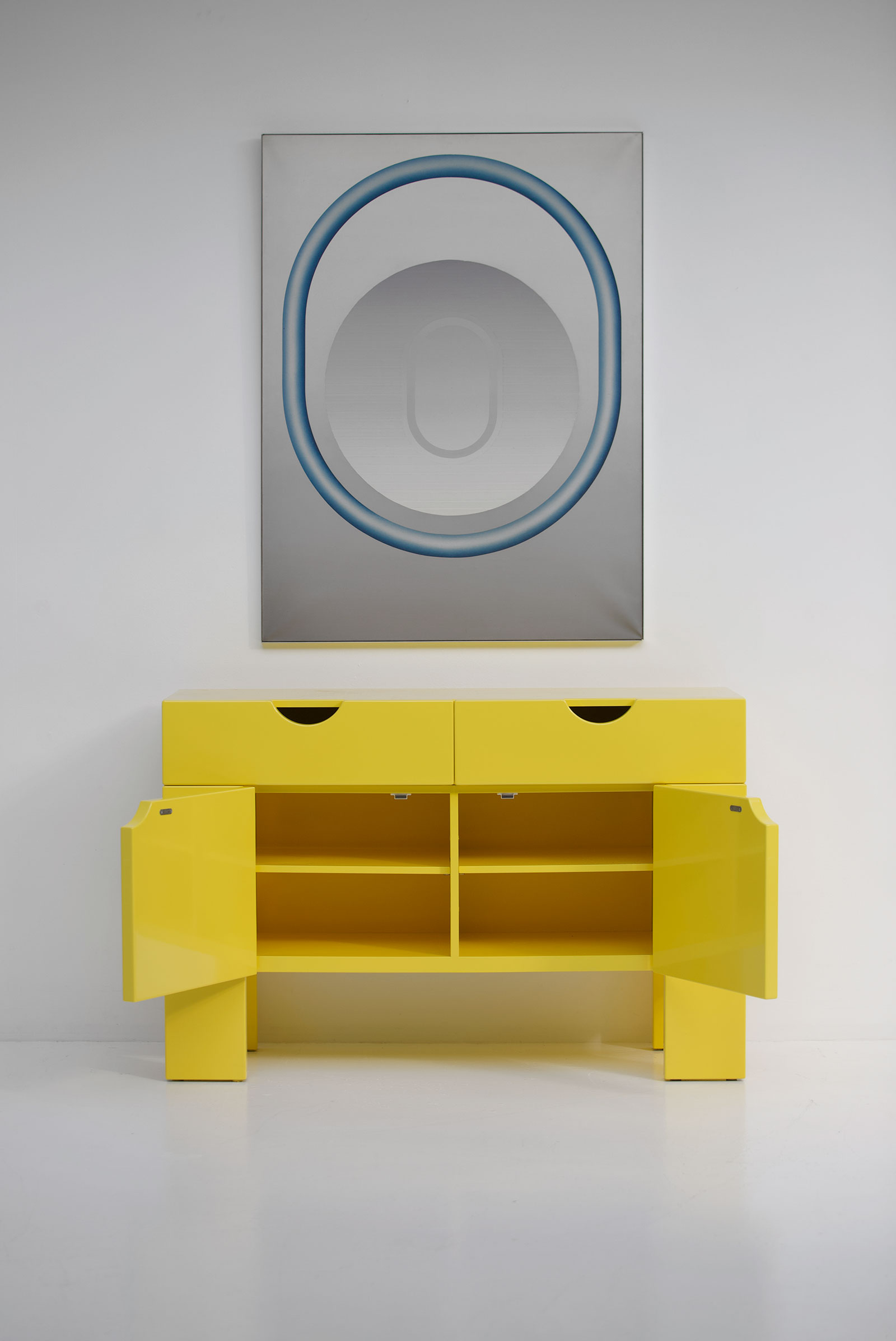 Yellow cabinet by Claire Bataille & Paul Ibens for t Spectrum