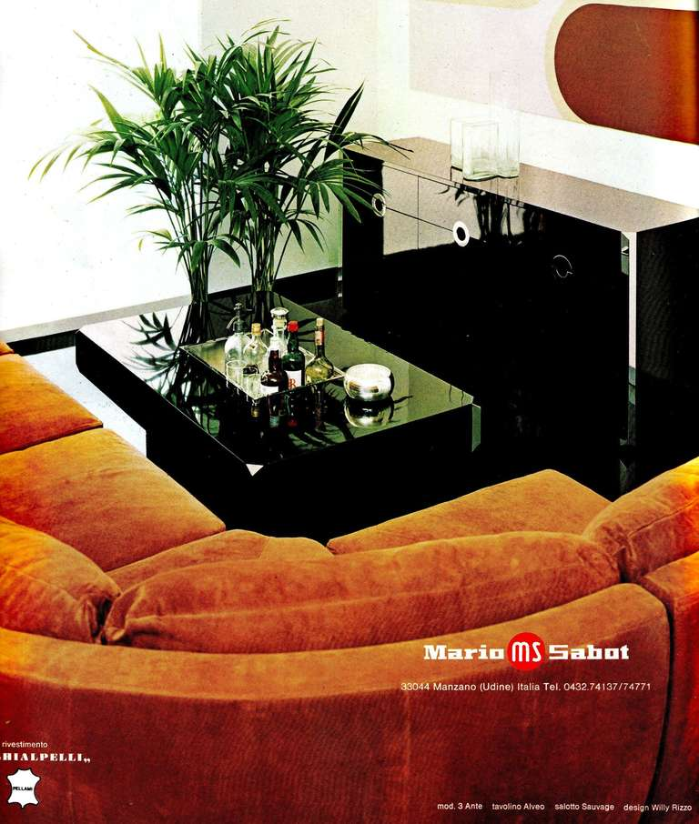 Willy Rizzo Coffee Table for Mario Sabbot 1970simage 2