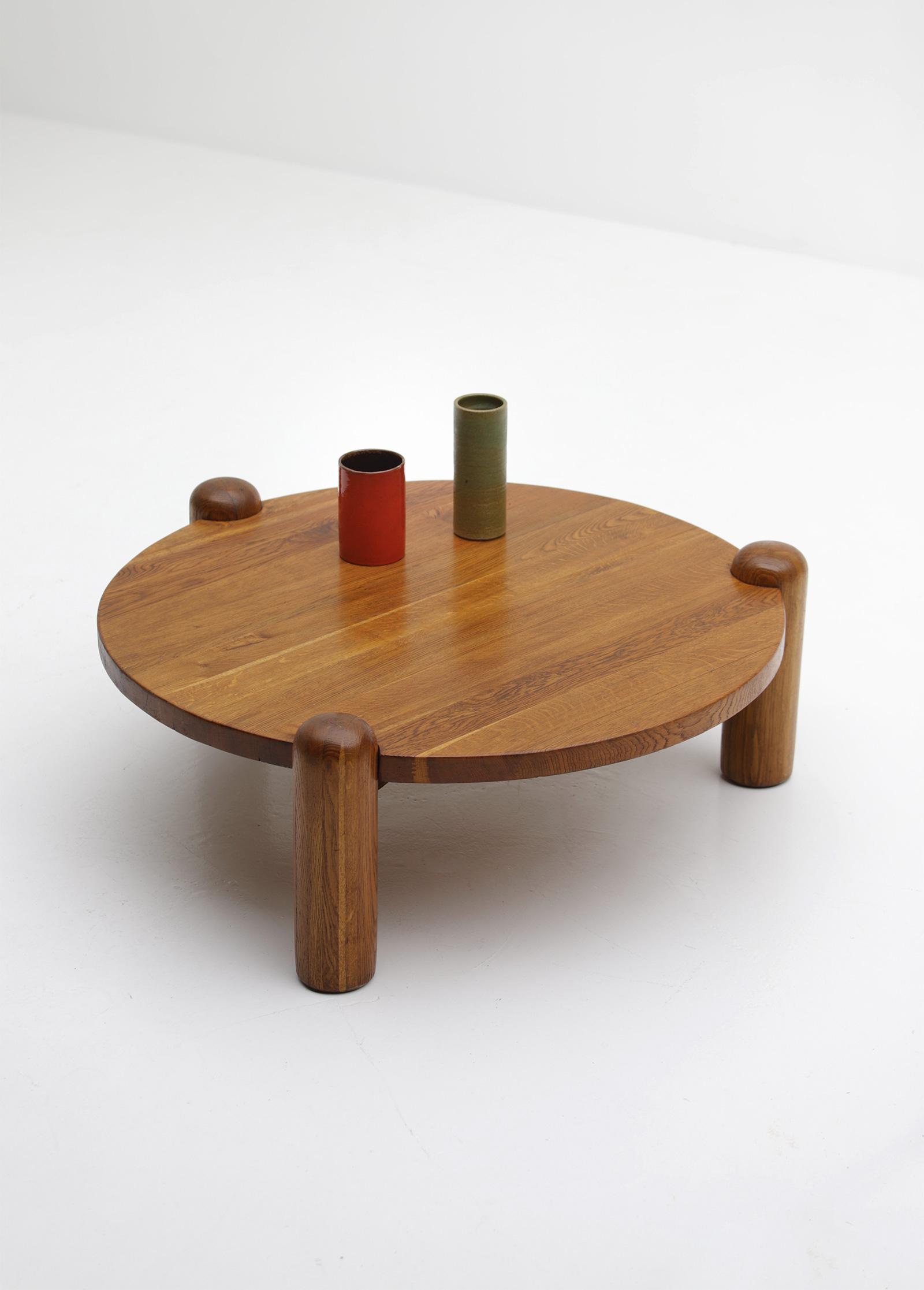 1960s oak Coffee Table image 6