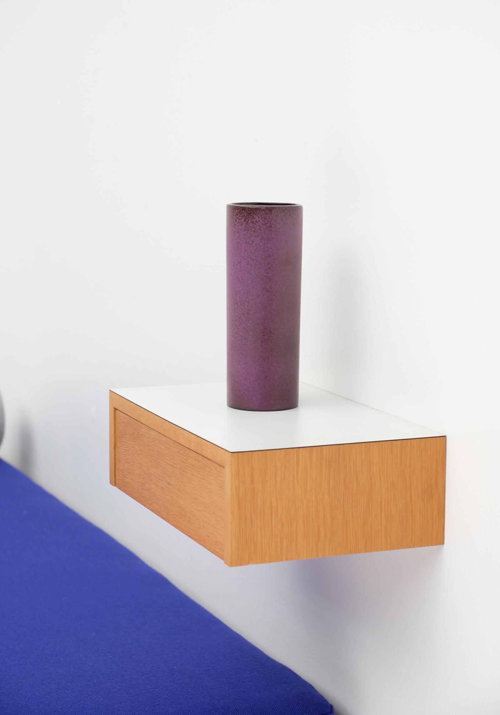 Decorative cylindrical Purple Vase