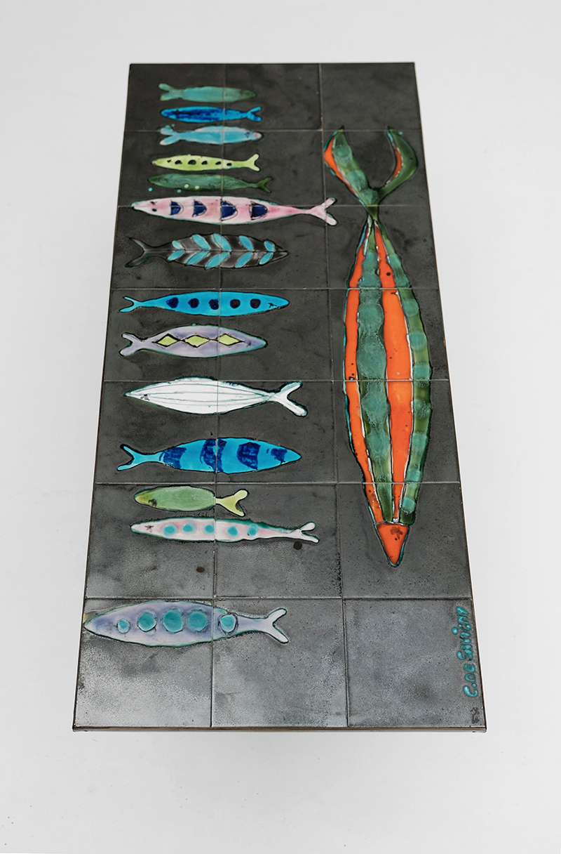CERAMIC FISH COFFEE TABLE