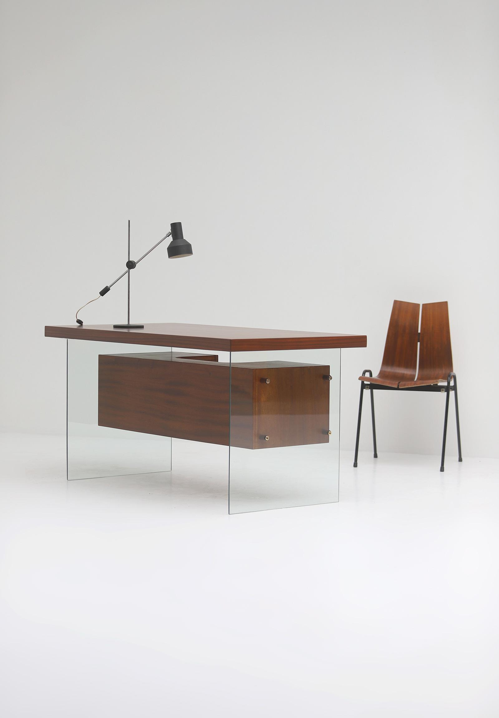 Modernist desk in the manner of Jacques Dumond, 1950simage 1