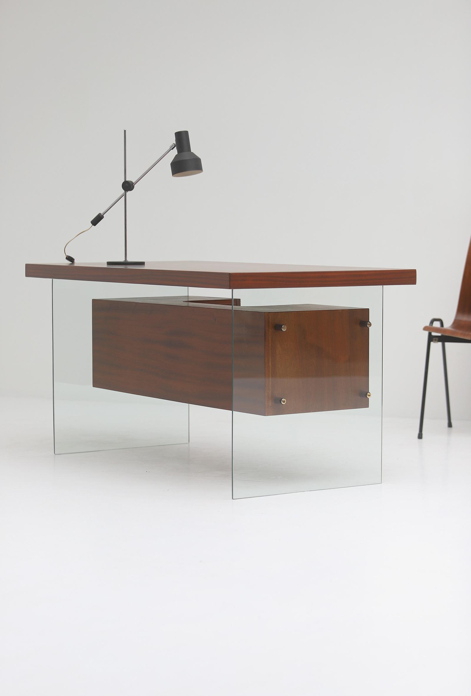 Modernist desk in the manner of Jacques Dumond, 1950simage 2